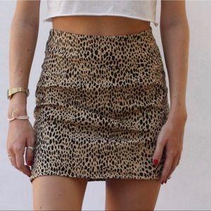 cheetah print brandy melville mini skirt